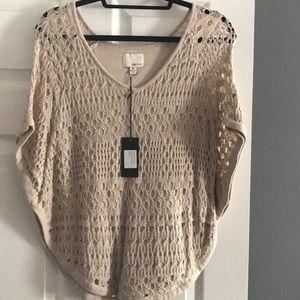 Brand new knit poncho